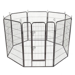 8 Panels Sturdy Metal Pet Fence