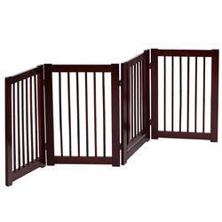 """30"""" Configurable Folding 4 Panel Wood Fence"""