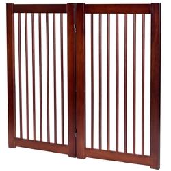 "36"" Configurable Folding Wood Pet Dog Safety Fence with Gate-B"