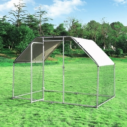 Category: Dropship Pet Supplies, SKU #PS7221+, Title: 9.5' x 6.5' Large Walk In Chicken Run Cage