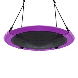 """40"""" Flying Saucer Tree Swing Indoor Outdoor Play Set-Purple"""