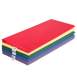 Category: Dropship Gym Mats, SKU #SP37001, Title: 2-Inch Toddler Thick Rainbow Rest Nap Mats 5-Pack