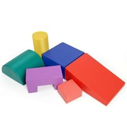 6 Piece Climb Crawl Play Set Indoor Kids  Toddler -Red