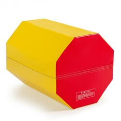 "25"" x 30"" Octagon Skill Shape Exercise Gymnastic Mat-Yellow"