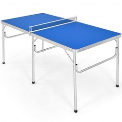 "60"" Portable Tennis Ping Pong Folding Table w/ Accessories"