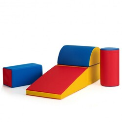 5-Piece Set Climb Activity Play Safe Foam Blocks-Red - Color: Red