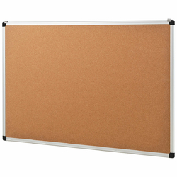 "24"" x 36"" Aluminum Framed Cork Board Bulletin Board with 12 Pins"