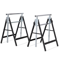 2 Pack Sawhorse Height Adjustable Folding Heavy Duty Trestle