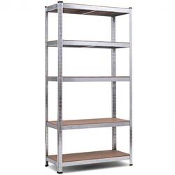 """72"""" Storage Shelf Steel Metal 5 Levels Adjustable Shelves"""