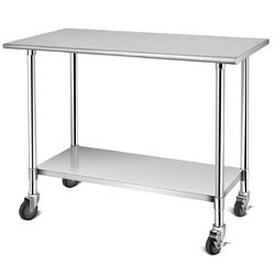 Category: Dropship Kitchen & Dining Room Tables, SKU #TL35114, Title: NSF Stainless Steel Commercial Kitchen Prep & Work Table