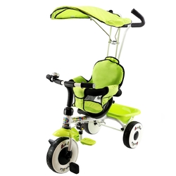 4-In-1 Baby Stroller Tricycle Toy Bike with Canopy Basket