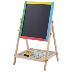 2-in-1 Adjustable Wooden Easel Drawing Board
