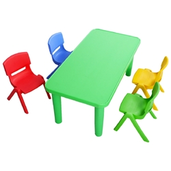 Category: Dropship Baby & Toddler Furniture Sets, SKU #TY323296+, Title: Kids Colorful Plastic Table and 4 Chairs Set