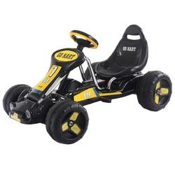Go Kart Kids Ride On Car Pedal Powered Car 4 Wheel Racer Toy Stealth Outdoor-Black - Color: Black