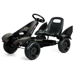 Kids Ride on 4 Wheel Pedal Powered Go Kart - Color: Black