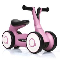 Baby Balance Bike Bicycle Toddler Toys Rides No-Pedal-Pink - Color: Pink