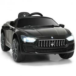 12 V Remote Control Maserati Licensed Kids Ride on Car-Black - Color: Black
