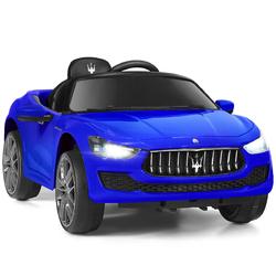 12 V Remote Control Maserati Licensed Kids Ride on Car-Blue - Color: Blue