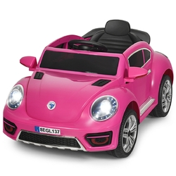 Kids Electric Ride On Car Battery Powered -Pink - Color: Pink