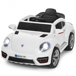 Kids Electric Ride On Car Battery Powered -White - Color: White