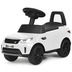 2-in-1 6V Land Rover Licensed Kids Ride On Car-White - Color: White