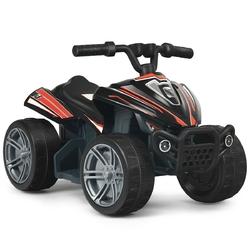 Kids 4-Wheeler ATV Quad Battery Powered Ride On Car-Black - Color: Black