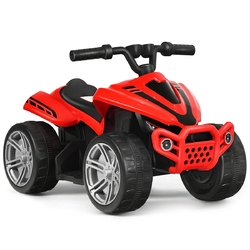 Kids 4-Wheeler ATV Quad Battery Powered Ride On Car-Red - Color: Red