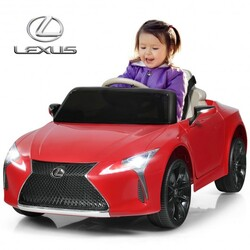Kids Ride Lexus LC500 Licensed Remote Control Electric Vehicle-Red - Color: Red