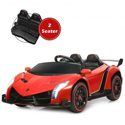 12V 2-Seater Licensed Lamborghini Kids Ride On Car with RC and Swing Function-Red - Color: Red