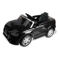 12 V Audi A3 Kids Ride on Car with RC + LED Light + Music-Black - Color: Black
