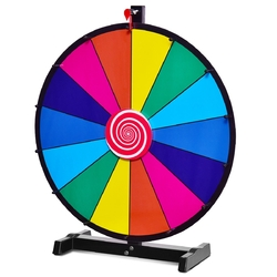 "24"" Editable 14 Slot Fortune Spinning Game Tabletop"