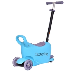 Category: Dropship Riding Scooters, SKU #TY570700, Title: 3 in 1 Kids Kick Scooter with Storage Function Adjustable Handle