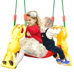Back to Back Rider Glider Swing for 2 Kids with Hangers