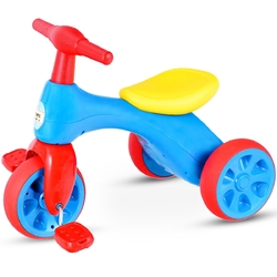 2 in 1 Toddler Tricycle Balance Bike Scooter Kids Riding Toys w/ Sound & Storage-Red