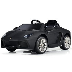 Lamborghini 12 V Licensed Electric Kids Riding Car - Color: Black