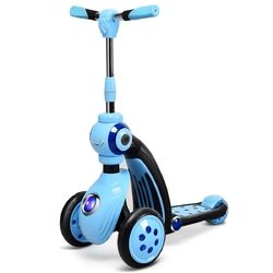 Category: Dropship Riding Scooters, SKU #TY577335, Title: 2-in-1 Kick Scooter Balance Trike With 3 Wheel