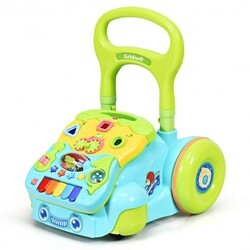 Early Development Toys for Baby Sit-to-Stand Learning Walker-Blue - Color: Blue