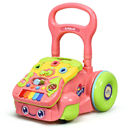 Early Development Toys for Baby Sit-to-Stand Learning Walker-Pink - Color: Pink