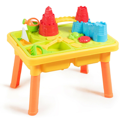Sand and Water Play Table for Kids with Sand Castle Molds