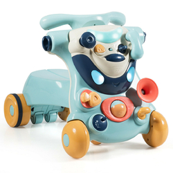 2-in-1 Baby Walker with Activity Center -Blue - Color: Blue