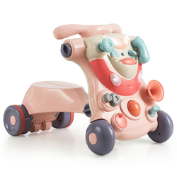 2-in-1 Baby Walker with Activity Center-Pink - Color: Pink