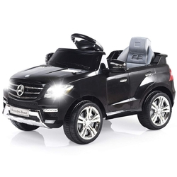 6V Mercedes Benz Kids Ride on Car with MP3+RC-Black - Color: Black
