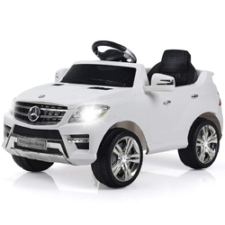 6V Mercedes Benz Kids Ride on Car with MP3+RC-White - Color: White