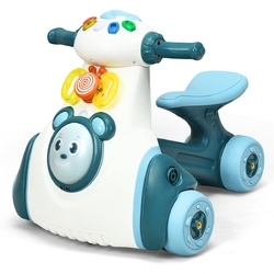 Baby Musical Balance Ride Toy-Blue - Color: Blue