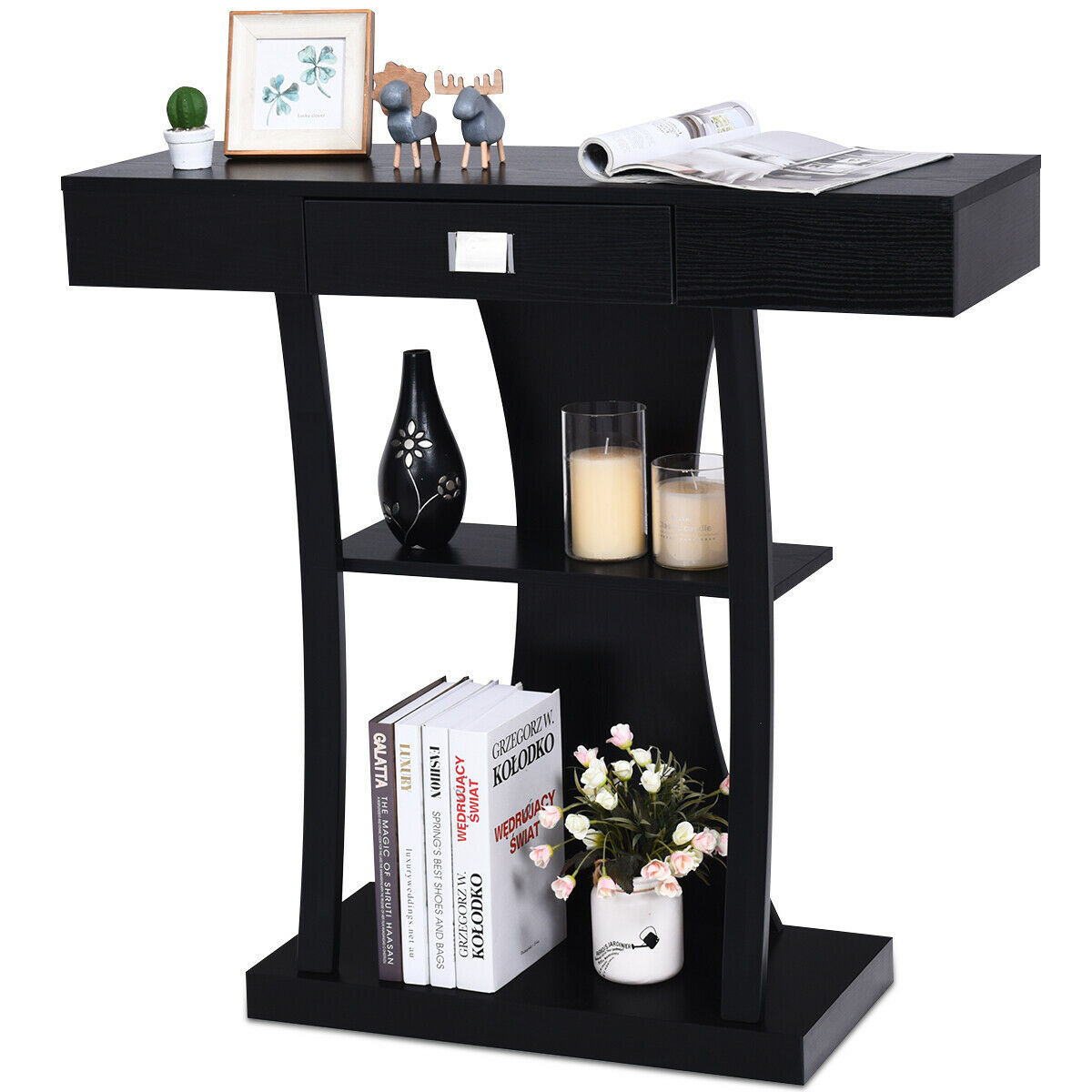 Console Table Sofa Entry Hallway Desk Storage Display Shelves