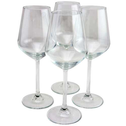 Pasabahce Allegra 4 Piece 11.75 oz White Wine Glass Set