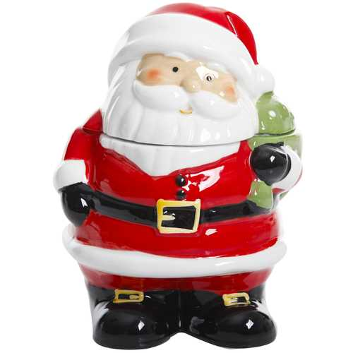 Jovial St. Nick 7.5 Inch Santa Holiday Cookie Jar