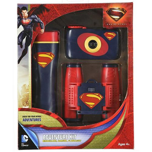 Super Man: Man of Steel Batman 3-Piece Adventure Kit with Camera, Flashlight, and Binocular