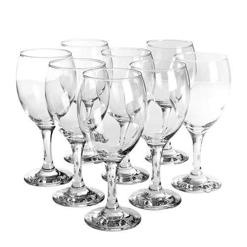 Pasabahce Imperial 8 Piece 10.25 Ounce Red Wine Glass Set