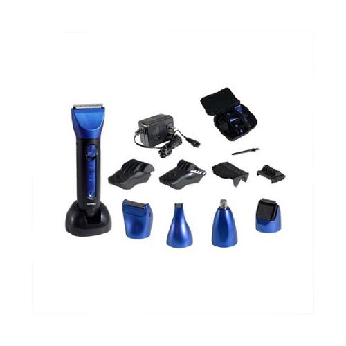 Optimus 15 Piece Wet/Dry Multi-Use Clipper and Trimmer, Blue/Black by Optimus